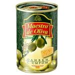 Оливки зелені Maestro de Oliva з сиром 300мл
