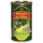 Оливки Maestro de Oliva зеленіе фаршированные анчоусами ж/б 350мл