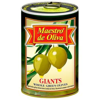 Оливки Maestro de Oliva гигантские с косточкой 432мл