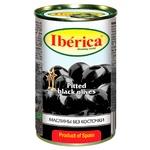 Маслины черные Iberica большие без косточки 360мл - купить, цены на Varus - фото 1