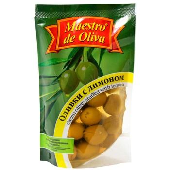 Оливки Maestro de Oliva с лимоном 170г