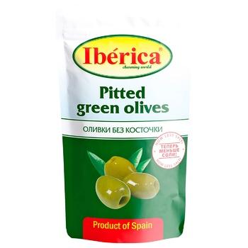 Оливки Иберика зеленые без косточки 170г