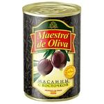 Маслины Maestro de Oliva черные с косточкой 280г