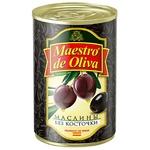 Маслины Maestro de Oliva черные без косточки 280г