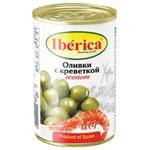Оливки Iberica фаршировані креветкою 280г
