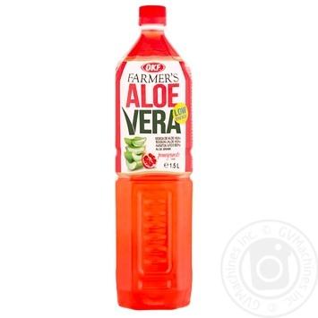 Напиток OKF Farmer's Алоэ Вера со вкусом граната 1,5л - купить, цены на Метро - фото 1
