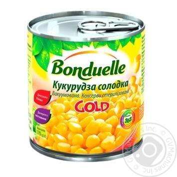 Кукуруза Бондюэль Голд сладкая консервированная 425мл - купить, цены на МегаМаркет - фото 1