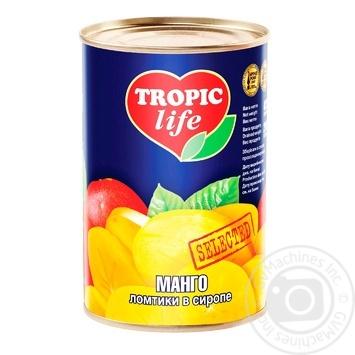 Манго Tropic life скибочками в сиропі 425г - купити, ціни на Фуршет - фото 1