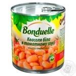 Фасоль Бондюэль белая в томатном соусе 425мл - купить, цены на Novus - фото 1