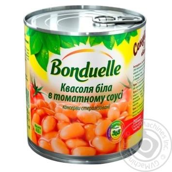 Квасоля Бондюель біла в томатному соусі 425мл - купити, ціни на МегаМаркет - фото 1