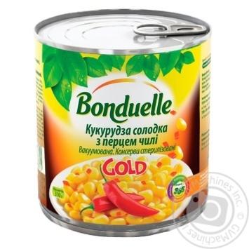 Кукуруза сладкая Bonduelle GOLD с перцем чили 425мл - купить, цены на Novus - фото 1