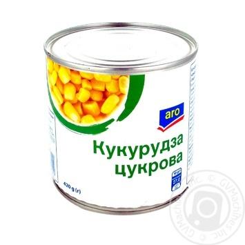 Кукуруза Aro сахарная 420г - купить, цены на Метро - фото 1