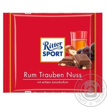 Ritter sport rum-nuts-raisins milk chocolate 100g - buy, prices for Novus - image 1