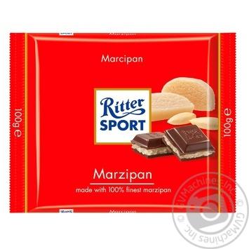 Шоколад чорний Ritter Sport з начинкою марципан 100г - купити, ціни на МегаМаркет - фото 1