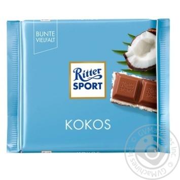 Шоколад молочний Ritter Sport з кокосово-молочним кремом 100г - купити, ціни на Метро - фото 1