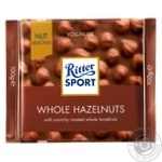 Ritter sport whole hazelnuts milk chocolate 100g
