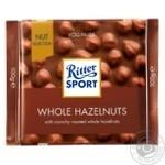 Шоколад молочний Ritter Sport з цільними лісовими горіхами 100г