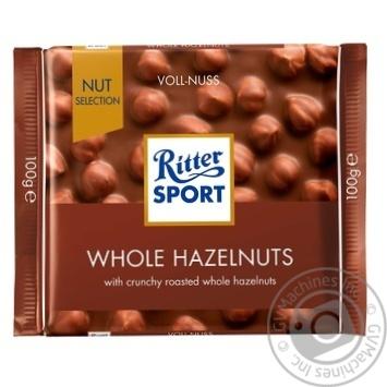 Шоколад молочный Ritter Sport с цельным лесным орехом 100г - купить, цены на Novus - фото 1