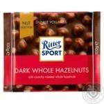 Шоколад темный Ritter Sport с цельным лесным орехом 100г