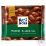 Шоколад молочний Ritter Sport з цільним мигдалевим горіхом 100г