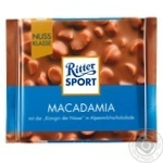 Шоколад молочний Ritter Sport з горіхом макадамія 100г
