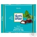 Ritter Sport With Mint Cream Taste Dark Сhocolate - buy, prices for Novus - image 1