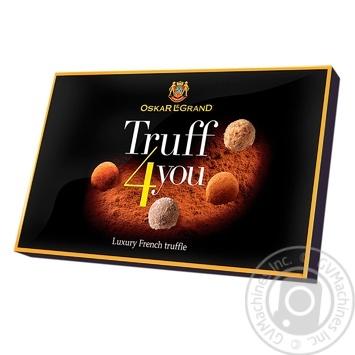 Конфеты шоколадные Oscar Le Grand Truff 4 you ассорти 300г - купить, цены на Фуршет - фото 1