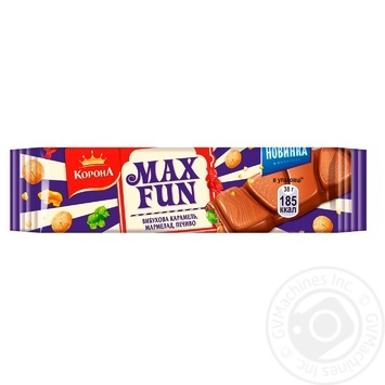 Шоколад Корона с мармеладом, печеньем и карамелью 38г - купить, цены на Метро - фото 1