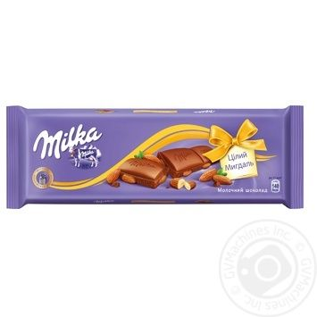 Milka Milk Chocolate with Whole Almonds 185g - buy, prices for CityMarket - photo 1