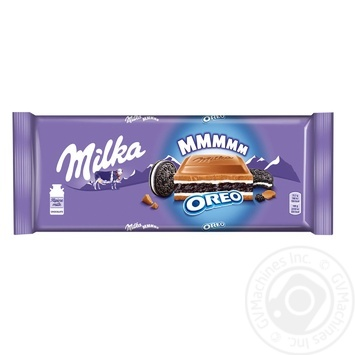 Шоколад молочный Milka с начинкой со вкусом ванили и печеньем Орео 300г