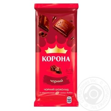 Шоколад черный Корона 85г