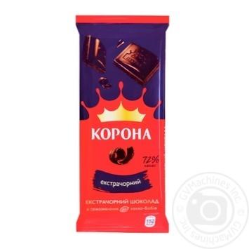 Korona extradark chocolate 75% 85g - buy, prices for CityMarket - photo 1