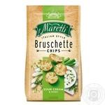 Хлебные брускеты Maretti запеченные со вкусом сметаны и лука 70г