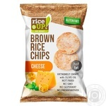 Rice Up! cheese brown rice chips 60g