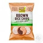 Rice Up! chia & qunioa brown rice chips 60g - buy, prices for Metro - image 1