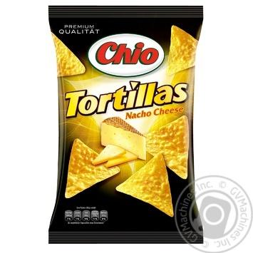 Чипсы Чио Тортиллас Начо Чиз кукурузные со вкусом сыра 125г - купить, цены на Восторг - фото 1