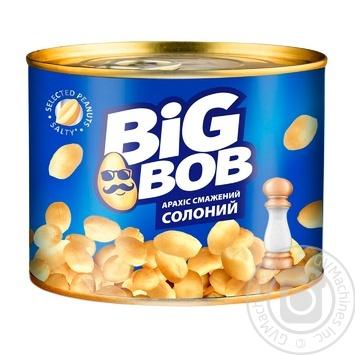 Арахіс Big Bob смажений солоний з/б 120г - купити, ціни на Ашан - фото 1