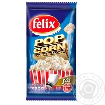Попкорн Felix солоний 90г - купити, ціни на Метро - фото 1