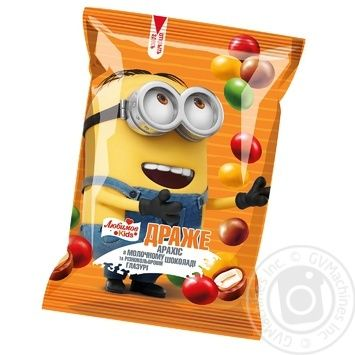 Lyubimov Kids peanuts in milk chocolate dragee 50g - buy, prices for MegaMarket - image 1