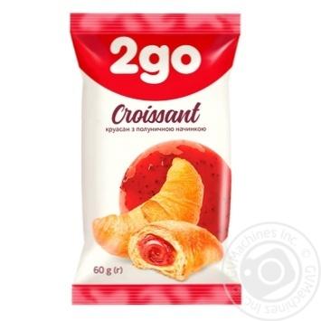Круасан 2go з полуничною начинкою 60г - купити, ціни на Метро - фото 1