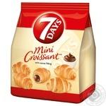 Круасани 7 days міні з кремом какао 185г - купити, ціни на Метро - фото 1