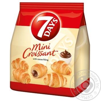 Круассаны 7 days мини с кремом какао 200г - купить, цены на Novus - фото 1