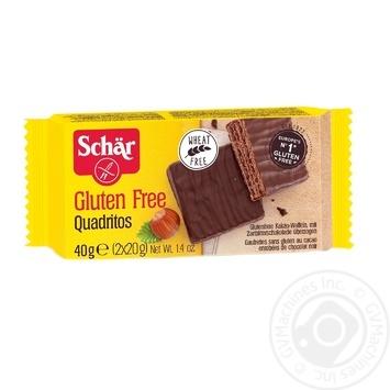 Вафли Dr.Schar в темном шоколаде с какао 40г - купить, цены на Novus - фото 1