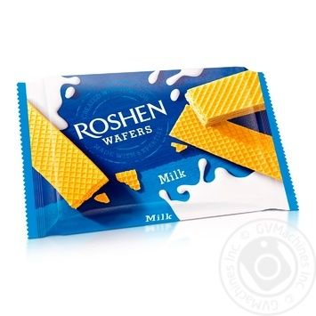 Вафли Roshen Wafers молоко 72г - купить, цены на Novus - фото 1