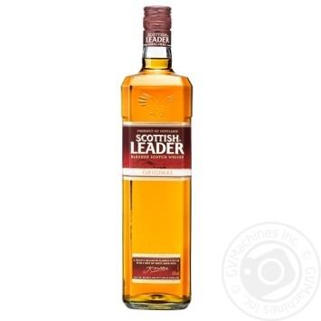 Виски Scottish Leader Original 40% 1л - купить, цены на Ашан - фото 1