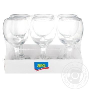 Набор бокалов Aro для вина 275мл 6шт - купить, цены на Метро - фото 1