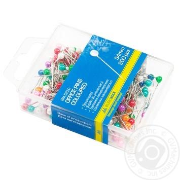 Шпильки BuroMax кольорові 200шт - купити, ціни на Метро - фото 1
