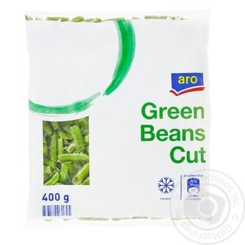 Фасоль Aro зеленая стручковая нарезанная быстрозамороженная 400г - купить, цены на Метро - фото 1