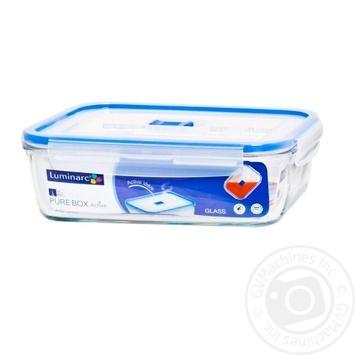 Контейнер Luminarc Pure Box з кришкою 1220мл - купити, ціни на Метро - фото 1