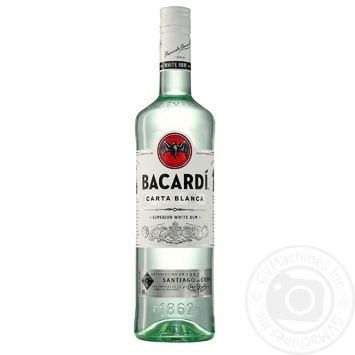 Bacardi Carta Blanca White Rum 40% 1l - buy, prices for Novus - image 1